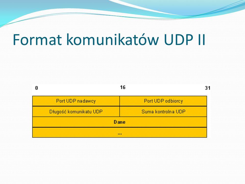 Format komunikatów UDP II
