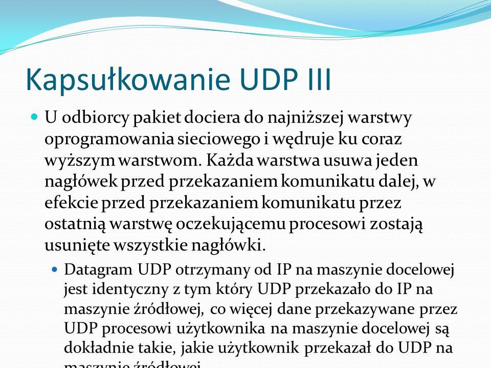 Kapsułkowanie UDP III