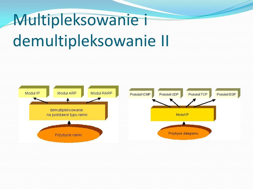 Multipleksowanie i demultipleksowanie II