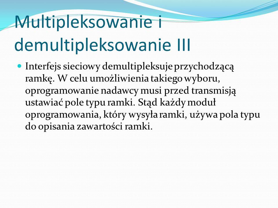 Multipleksowanie i demultipleksowanie III
