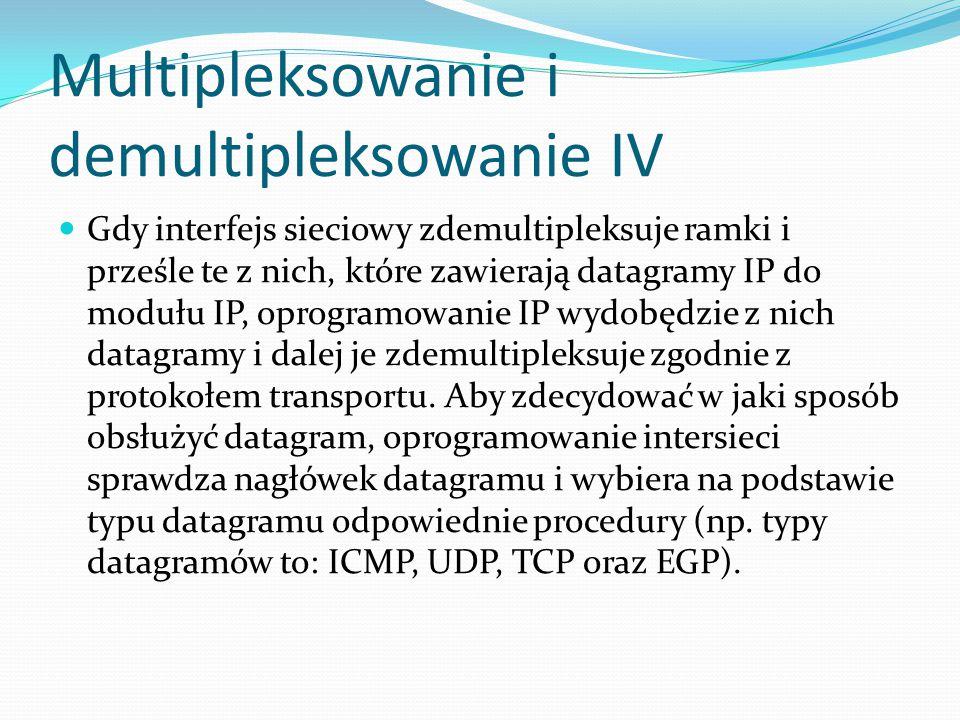 Multipleksowanie i demultipleksowanie IV