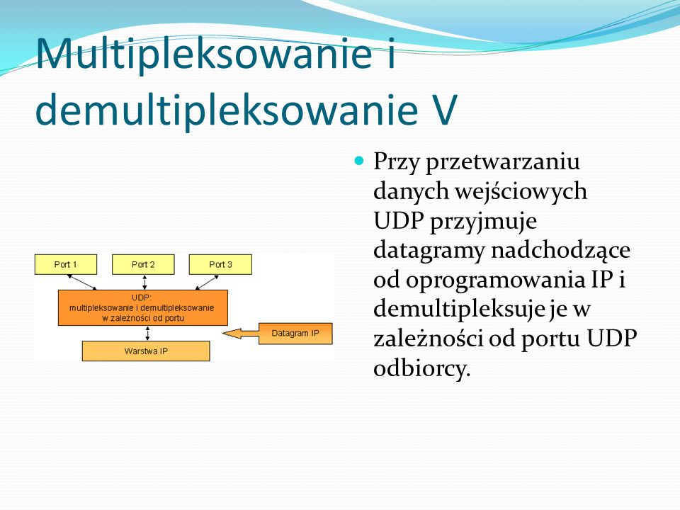 Multipleksowanie i demultipleksowanie V