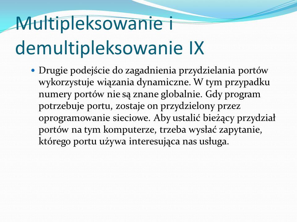 Multipleksowanie i demultipleksowanie IX