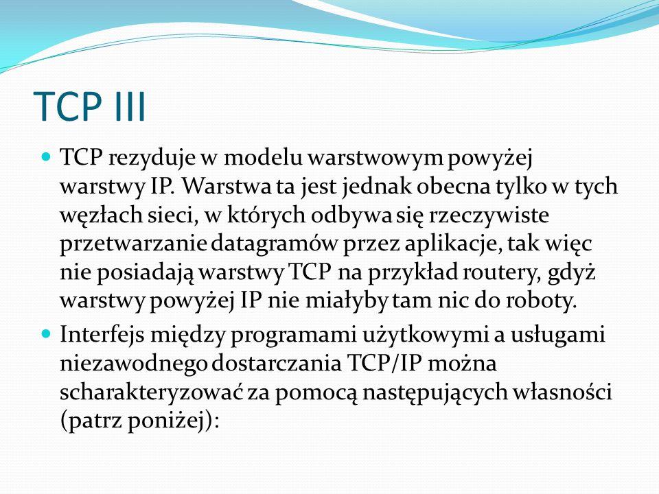 TCP III