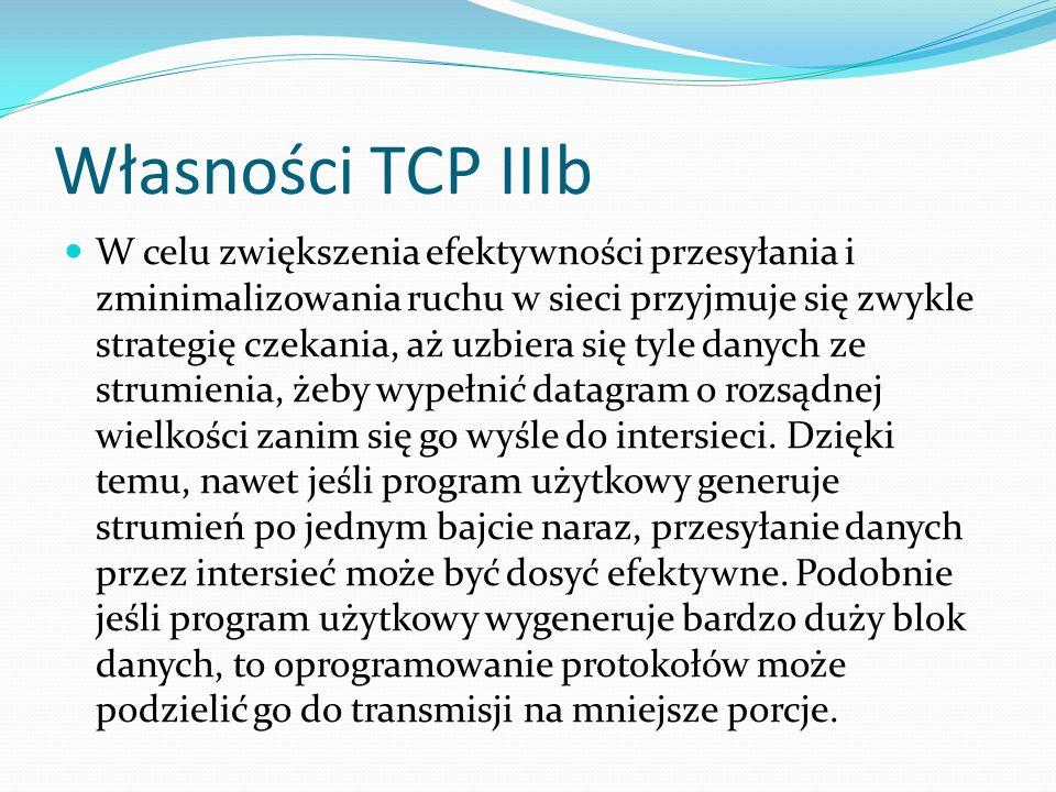 Własności TCP IIIb