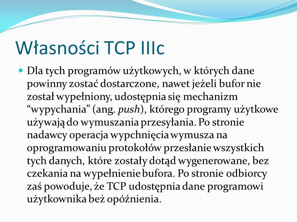 Własności TCP IIIc
