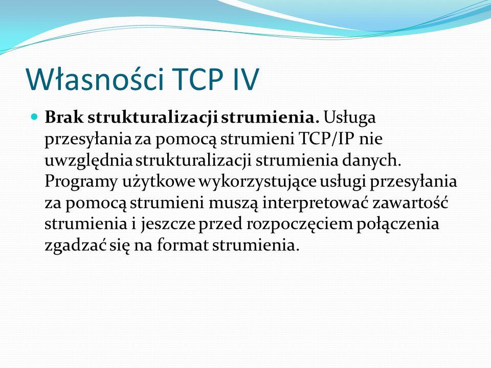 Własności TCP IV