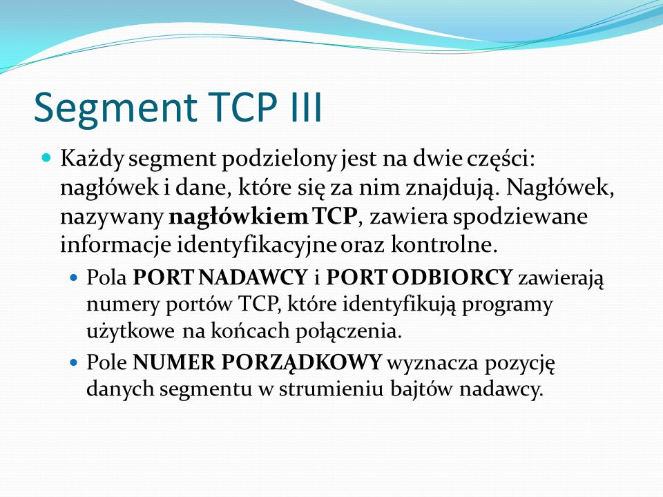 Segment TCP III