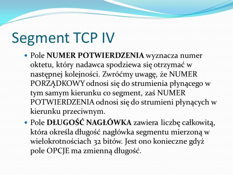 Segment TCP IV