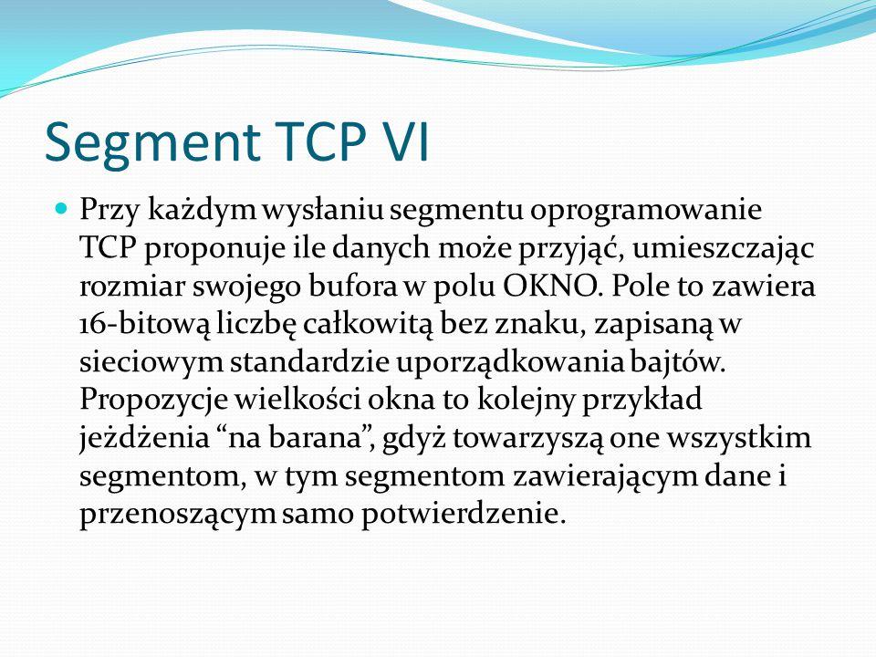 Segment TCP VI