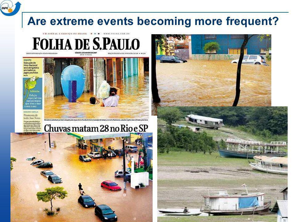 Are extreme events becoming more frequent