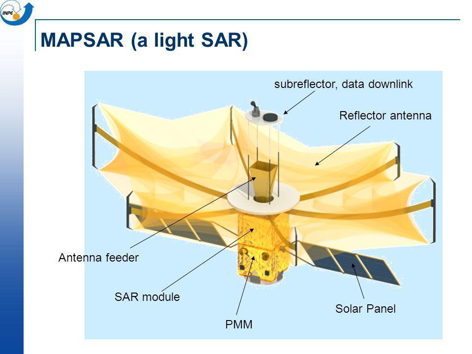 MAPSAR (a light SAR) subreflector, data downlink Reflector antenna