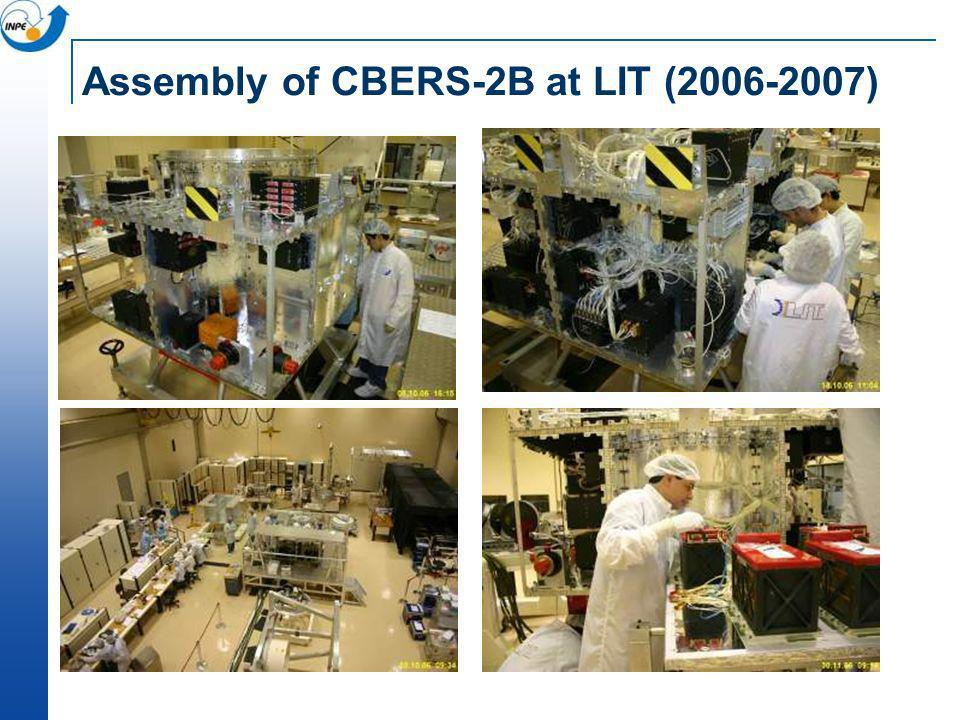 Assembly of CBERS-2B at LIT (2006-2007)