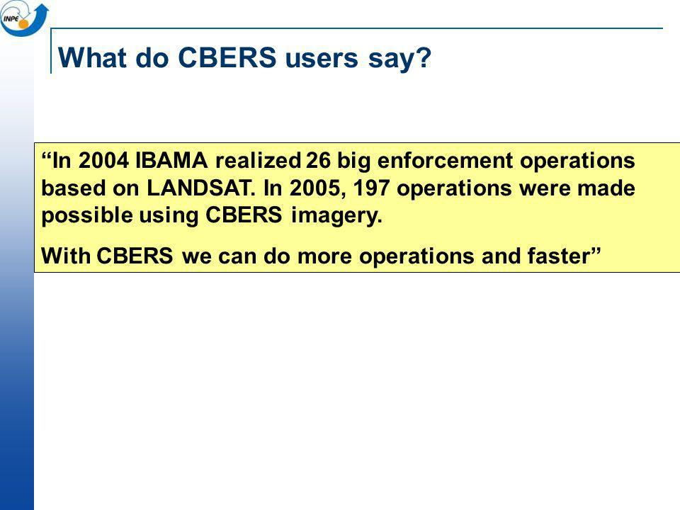 What do CBERS users say