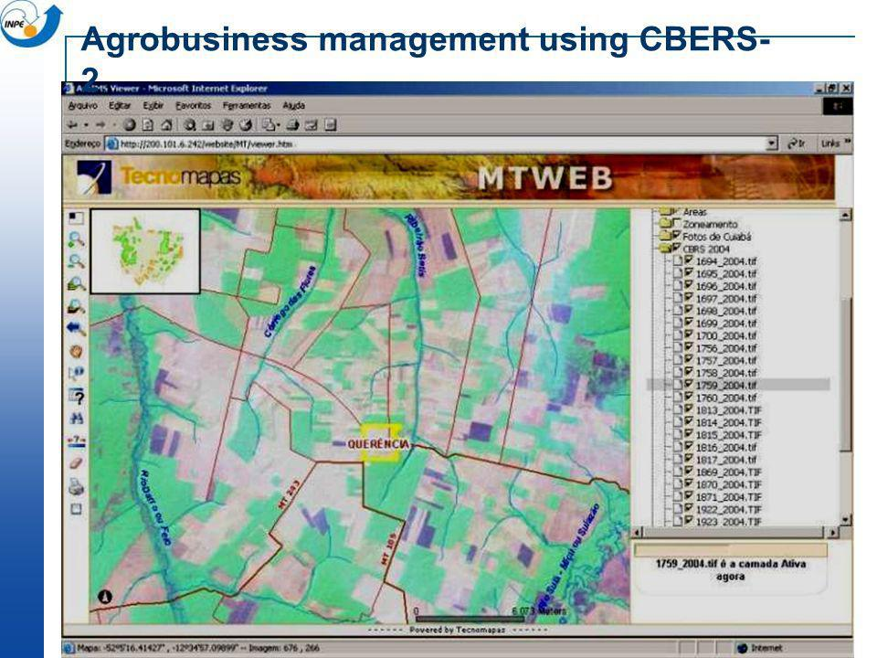 Agrobusiness management using CBERS-2