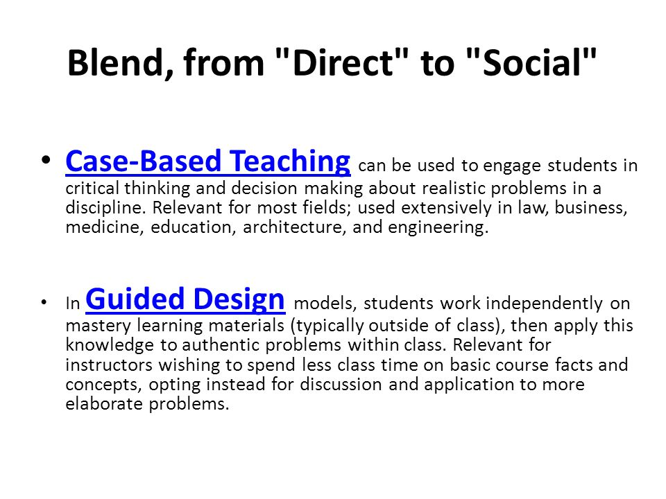 Blend, from Direct to Social
