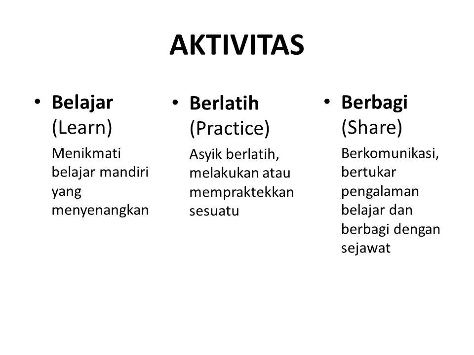 AKTIVITAS Belajar (Learn) Berlatih (Practice) Berbagi (Share)