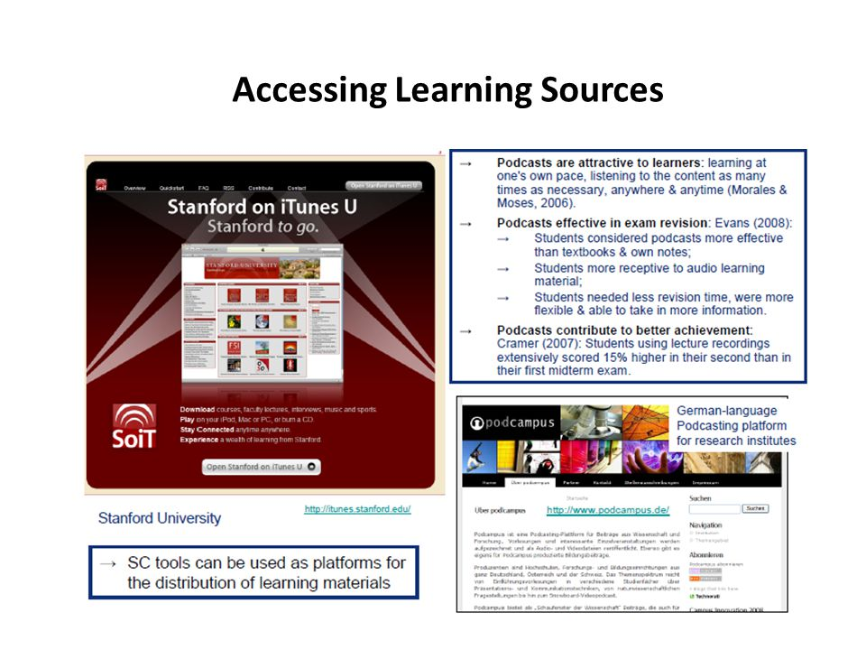 Accessing Learning Sources