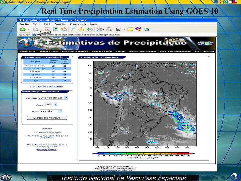 Real Time Precipitation Estimation Using GOES 10