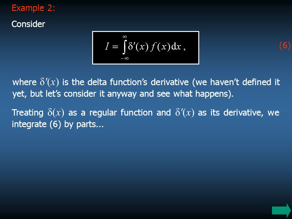 Example 2: Consider. (6)