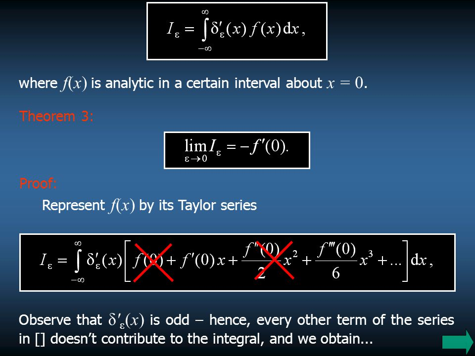 where f(x) is analytic in a certain interval about x = 0.