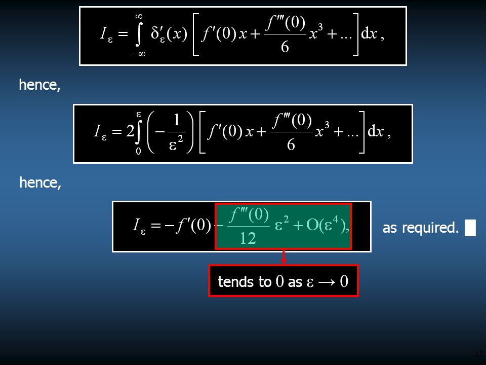 hence, hence, as required. █ tends to 0 as ε → 0