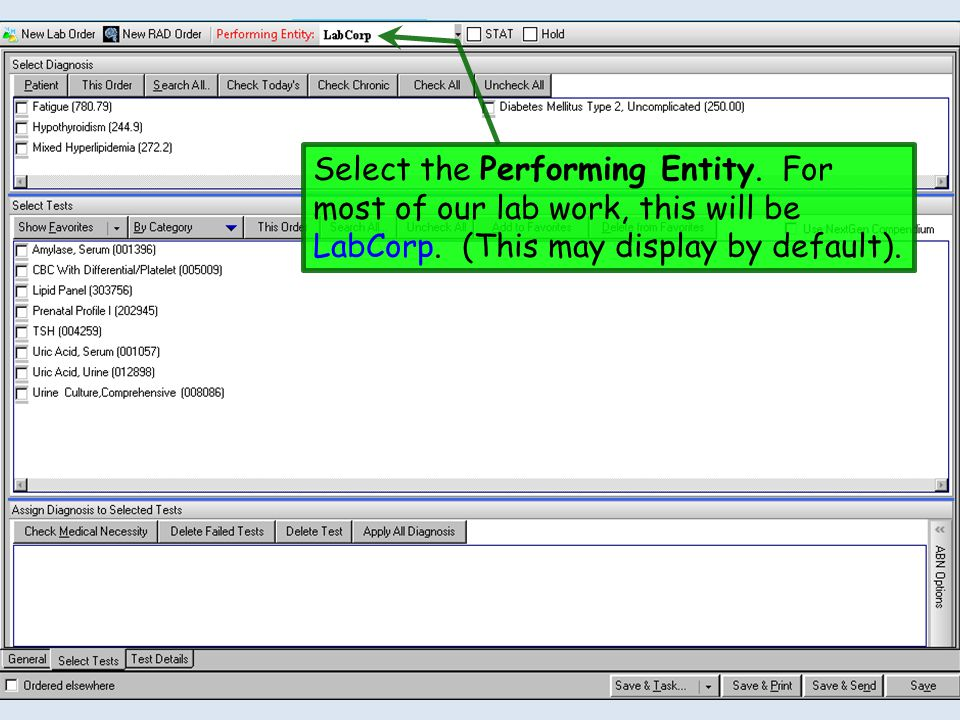 Select the Performing Entity