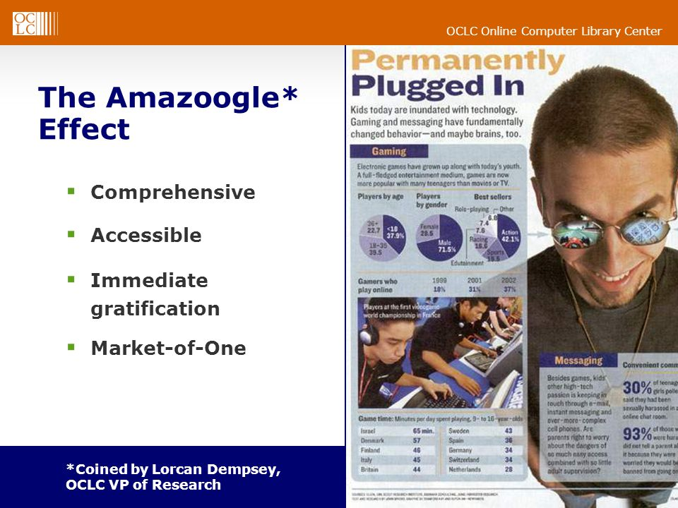 The Amazoogle* Effect Comprehensive Accessible Immediate gratification