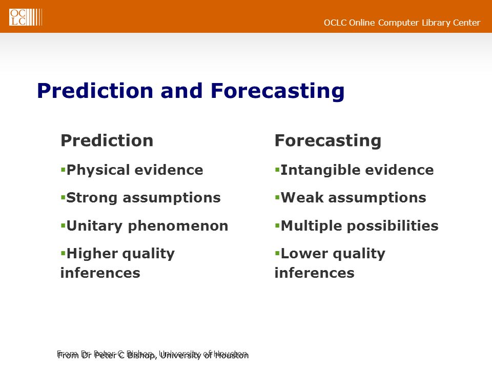 Prediction and Forecasting
