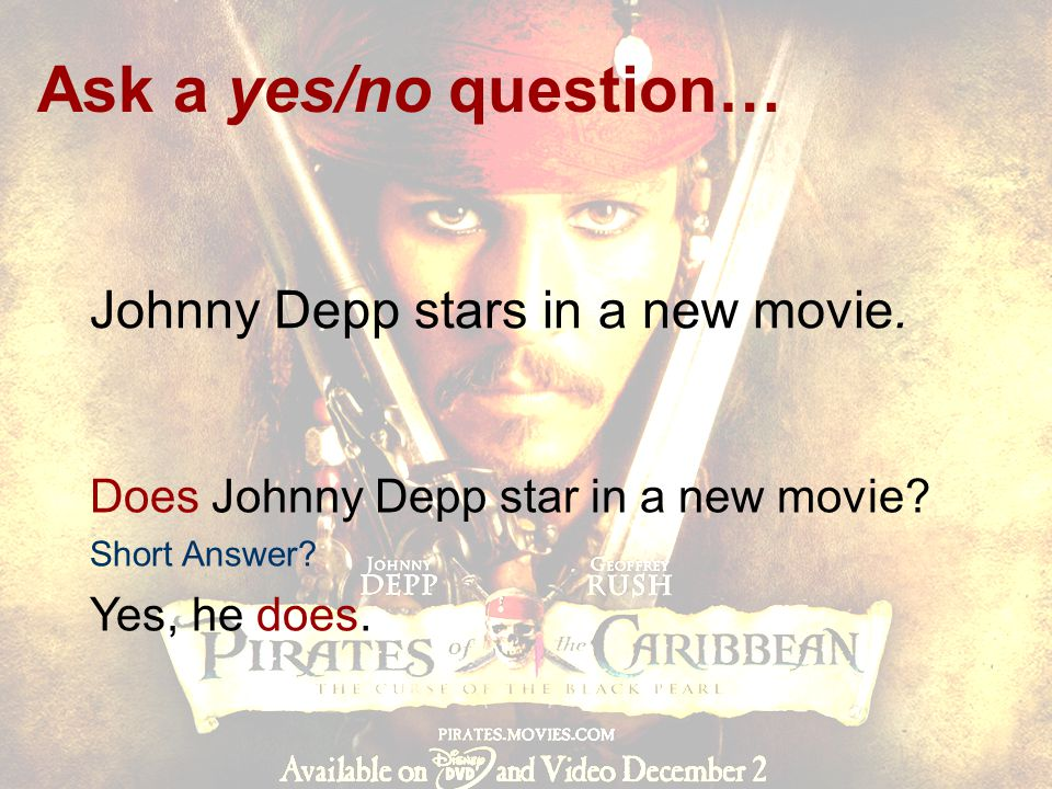 Johnny Depp stars in a new movie.