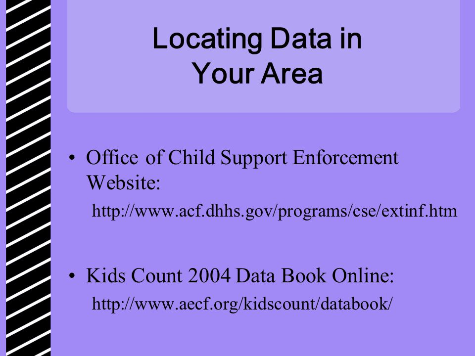 Locating Data in Your Area