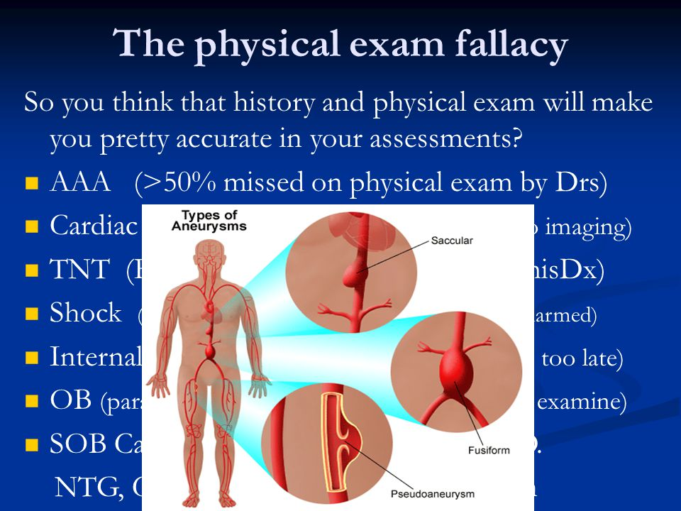 The physical exam fallacy