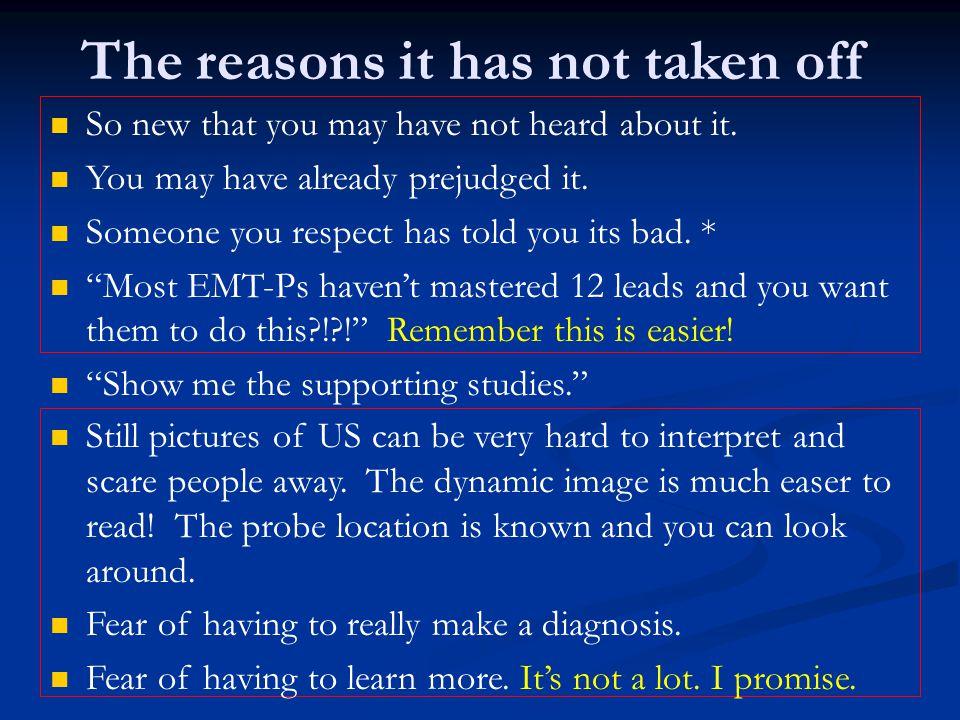 The reasons it has not taken off