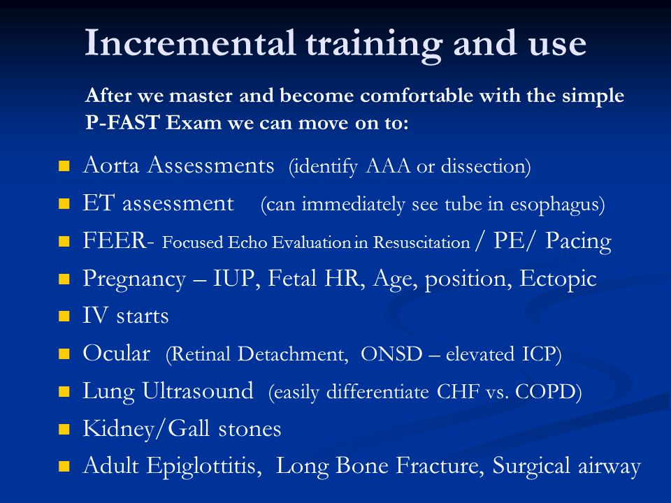 Incremental training and use