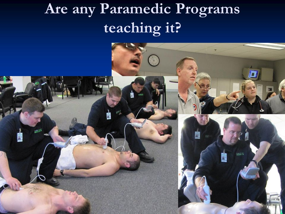 Are any Paramedic Programs teaching it