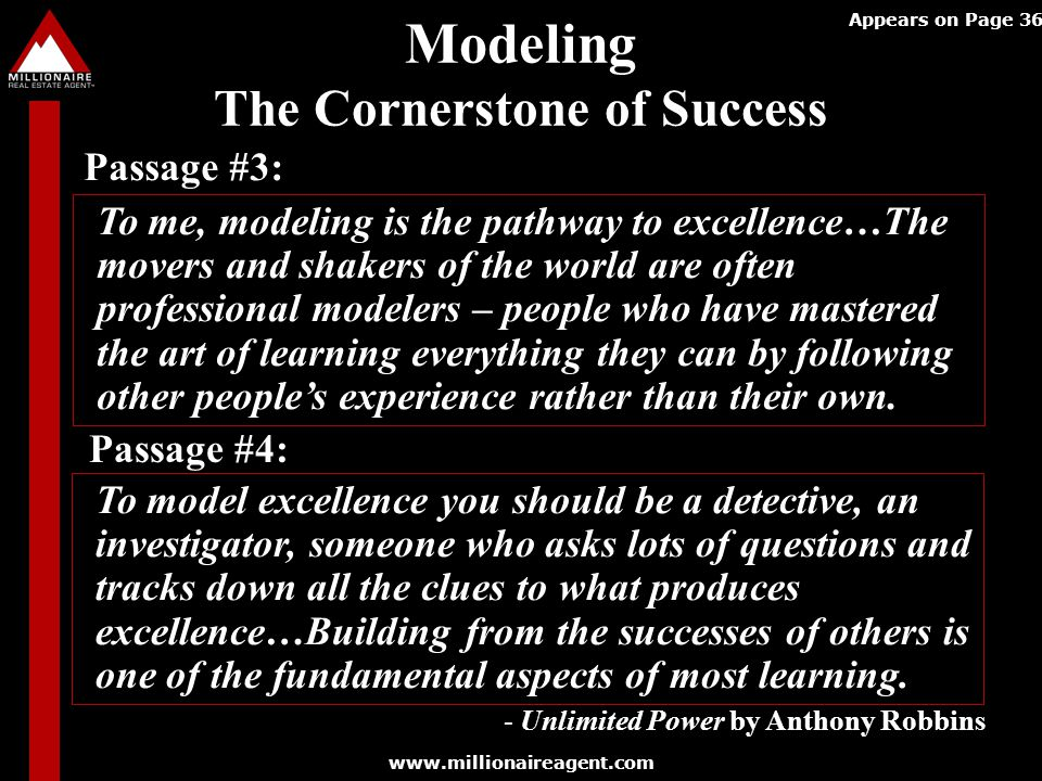 Modeling The Cornerstone of Success
