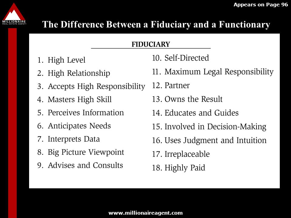 The Difference Between a Fiduciary and a Functionary