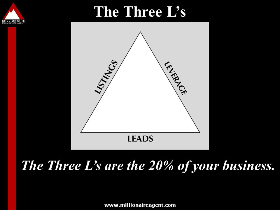The Three L's are the 20% of your business.