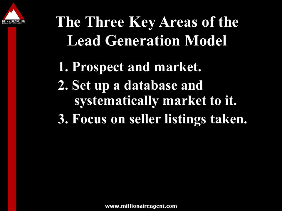 The Three Key Areas of the Lead Generation Model