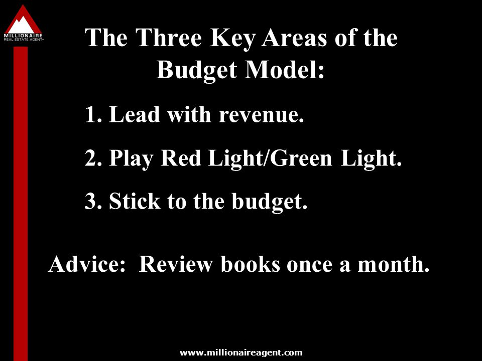 The Three Key Areas of the Budget Model: