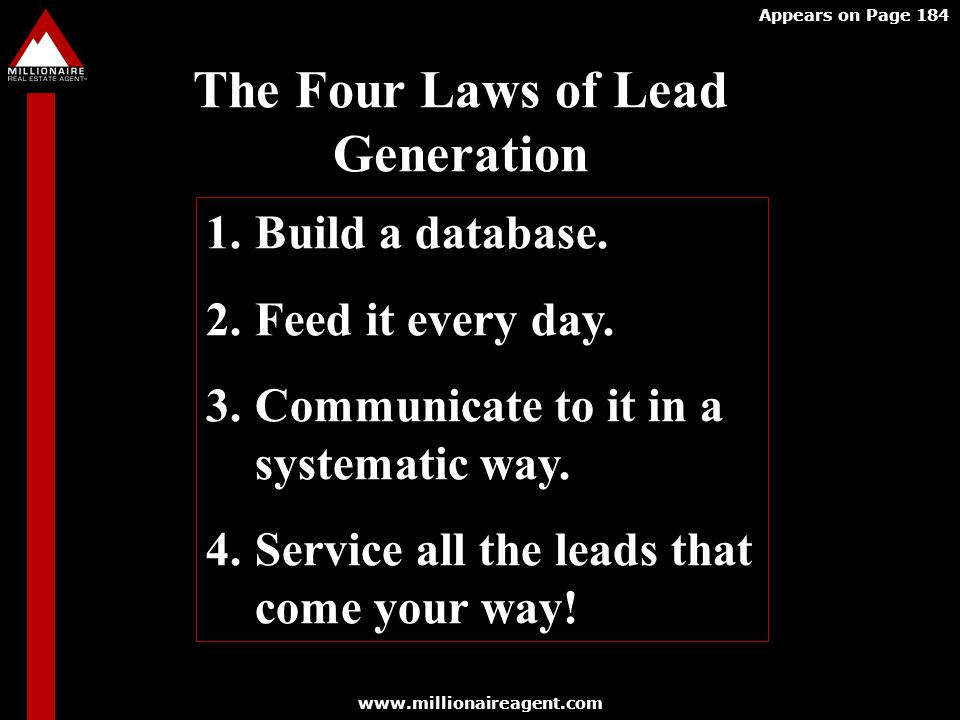 The Four Laws of Lead Generation