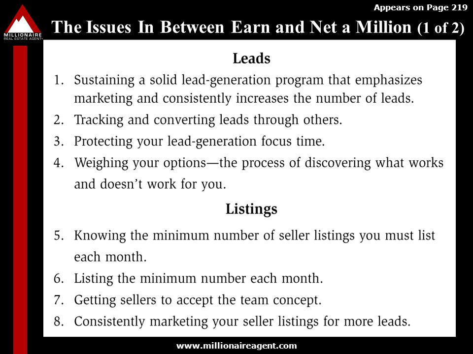 The Issues In Between Earn and Net a Million (1 of 2)