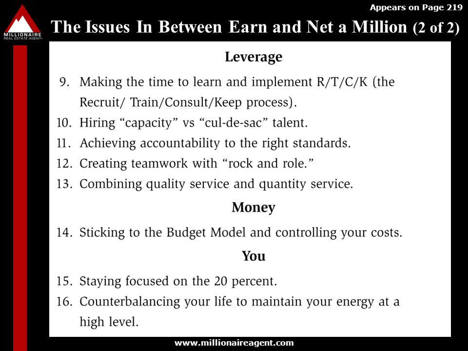 The Issues In Between Earn and Net a Million (2 of 2)