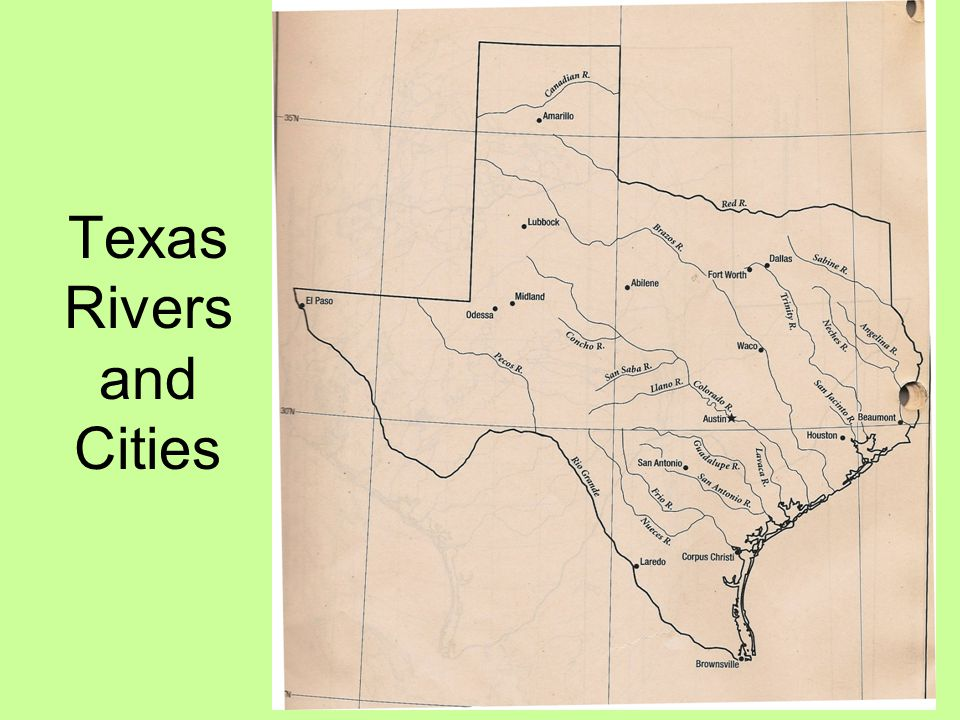 Texas Rivers and Cities