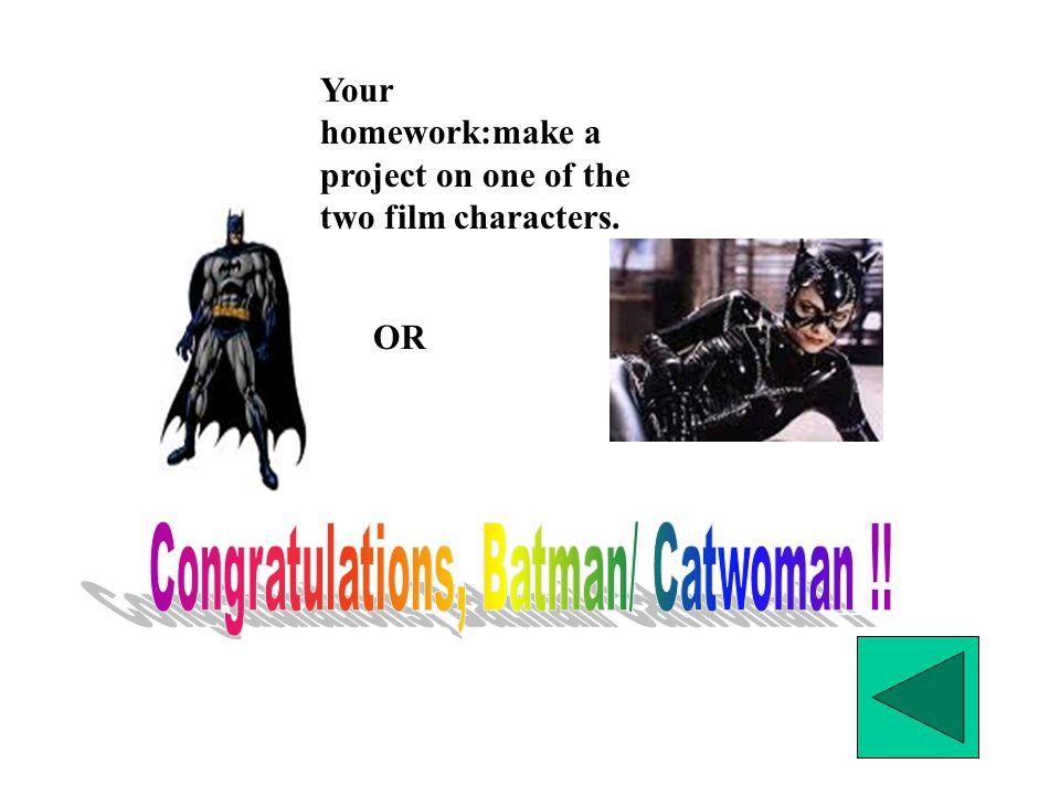 Congratulations, Batman/ Catwoman !!
