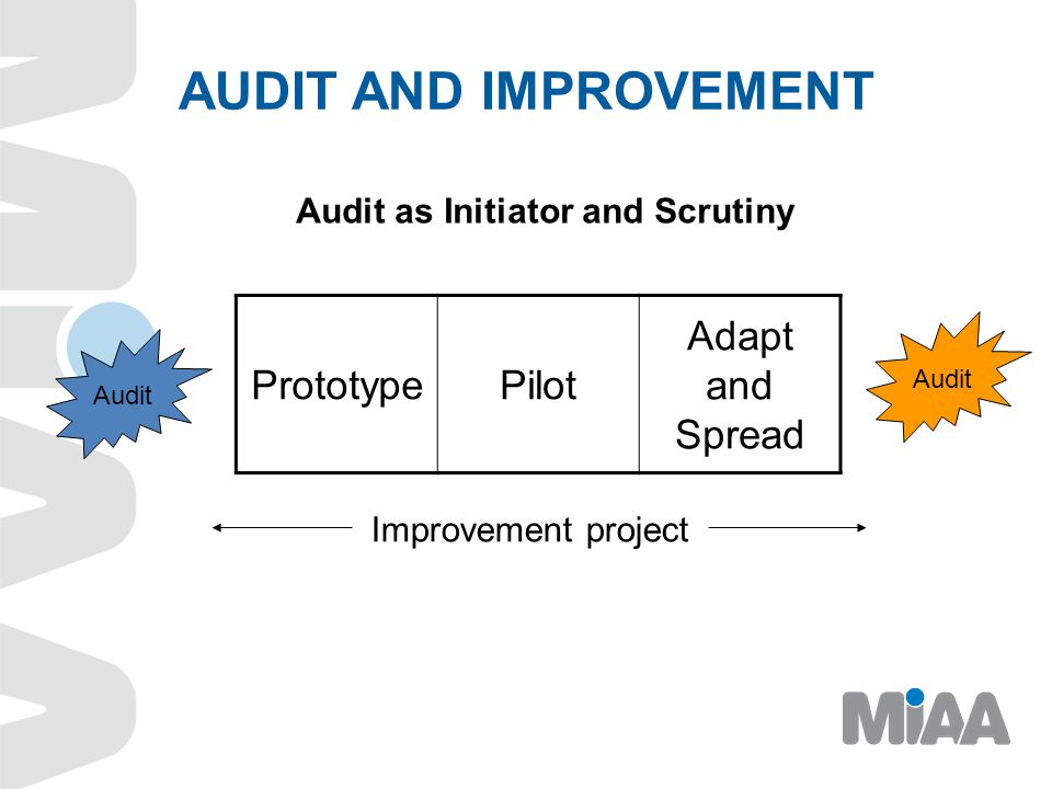 AUDIT AND IMPROVEMENT Prototype Pilot Adapt and Spread