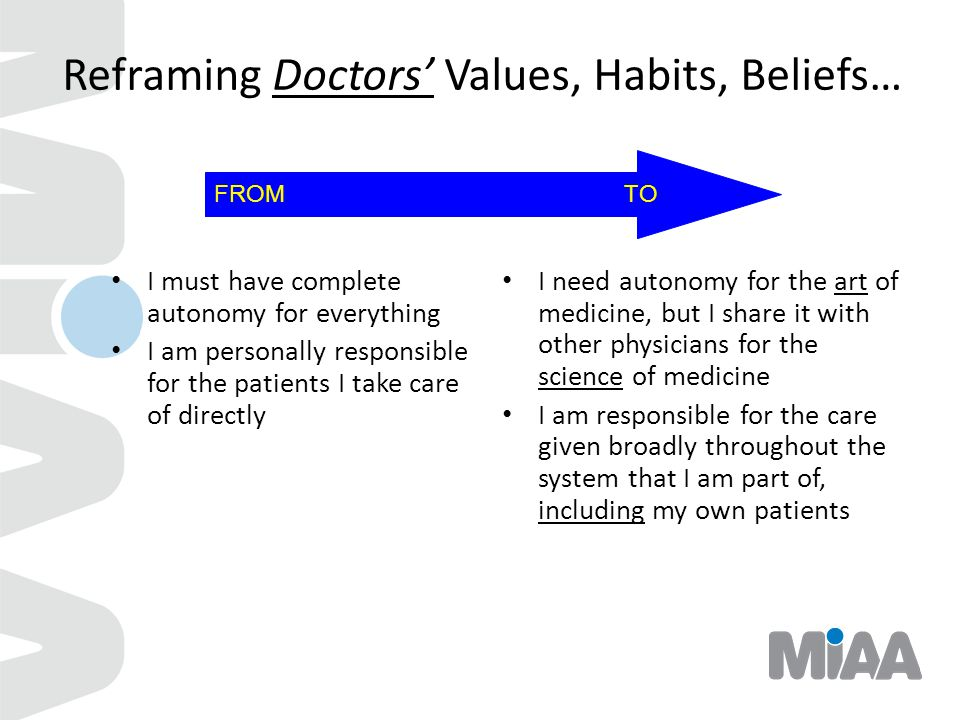 Reframing Doctors' Values, Habits, Beliefs…