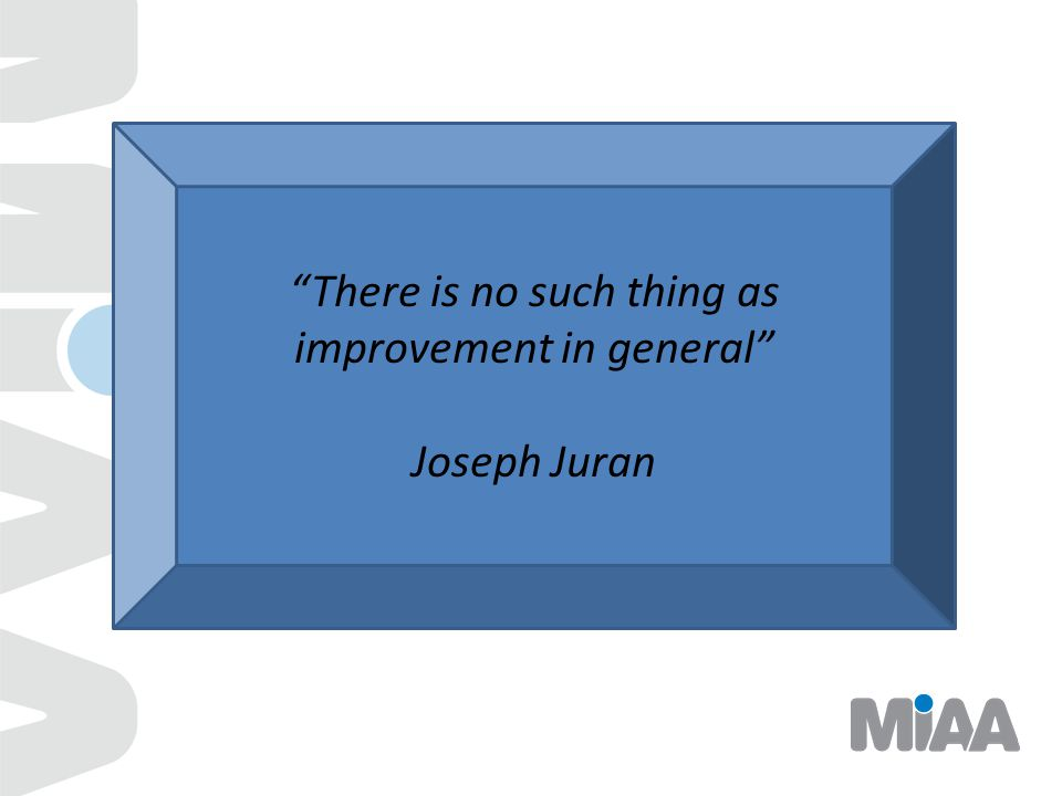 There is no such thing as improvement in general