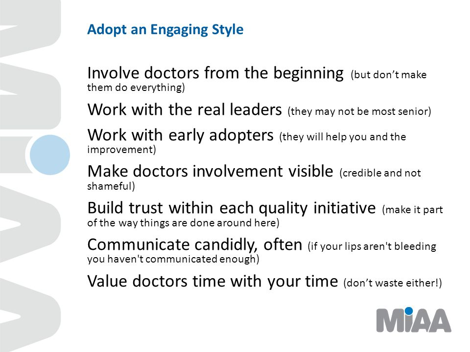 Adopt an Engaging Style