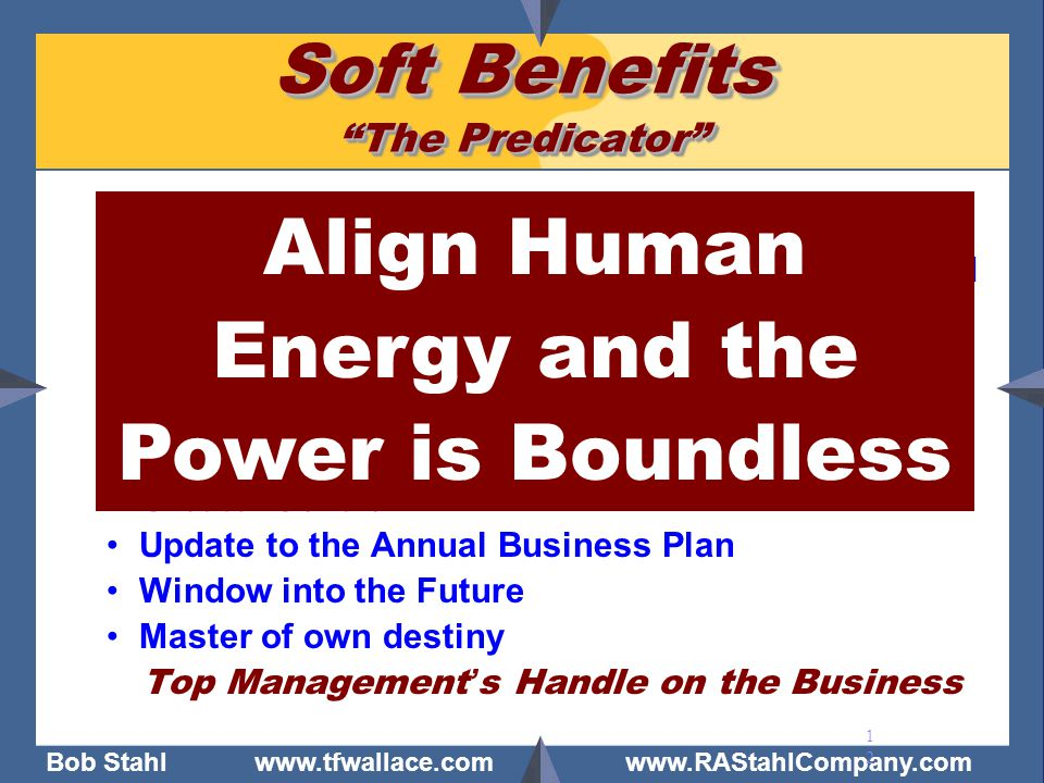 Soft Benefits The Predicator